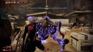 Mass Effect 2 : Am Boden ist der Prätorianer unverwundbar, außerdem sollten Sie ihn auf keinen Fall so nahe heranlassen.