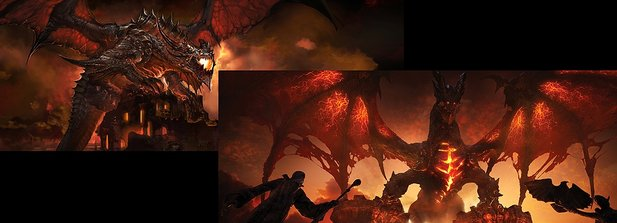 World of WarCraft: Cataclysm - Dualscreen-Wallpaper :