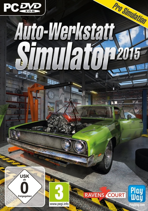 auto werkstatt simulator 2015 car mechanic simulator 2015 pc spiele cover gamestar. Black Bedroom Furniture Sets. Home Design Ideas
