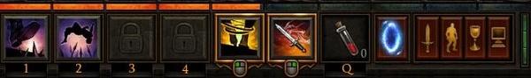 Diablo 3 - Die Grundlagen : Der Zugriff auf die Fertigkeiten in Diablo 3: Die Aktionsleiste