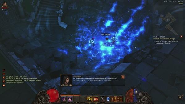 Diablo 3 - Komplettlösung : In der Verlassenen Kammer hinter Leorics Thronsaal stoßen wir auf den mysteriösen Fremden.