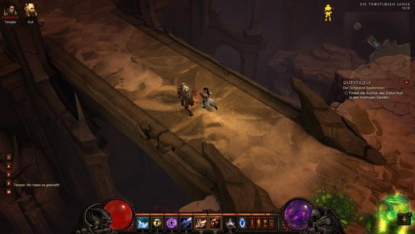 Diablo 3 - Komplettlösung : Die Brücke zum Archiv des Zollum Kull.