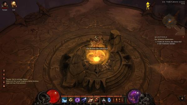 Diablo 3 - Komplettlösung : Das Portal zu Kulls Archiv.
