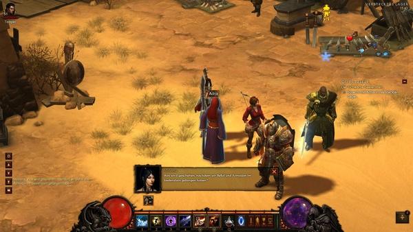 Diablo 3 - Komplettlösung : Besprechung im Versteckten Lager.