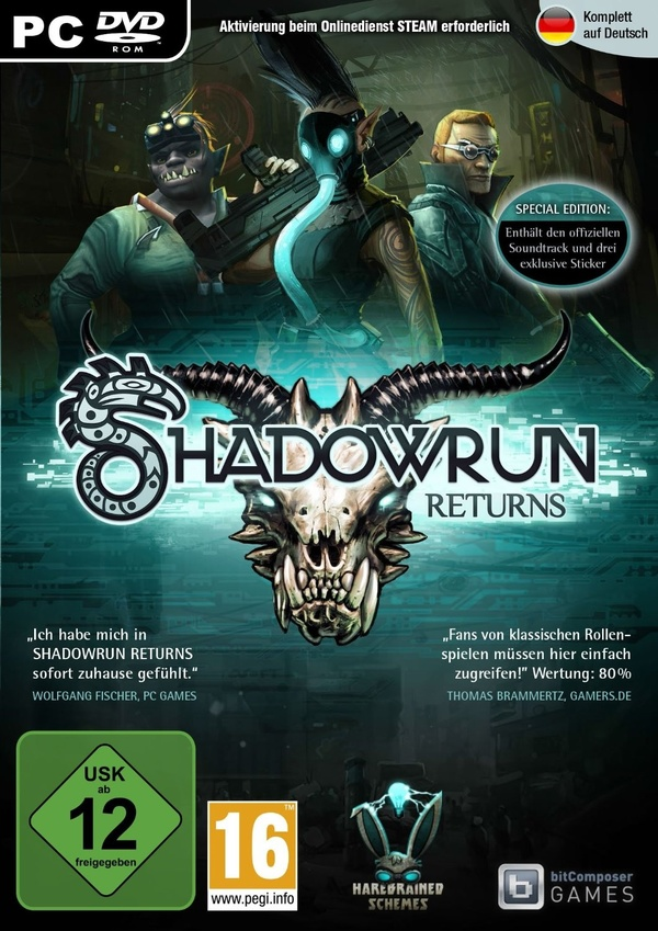 Cover zu Shadowrun Returns