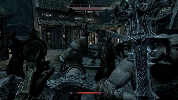 Vampirismus in Skyrim : Einmal nicht aufgepasst beim Schnellreisen und schon fällt ganz Weißlauf über uns her.