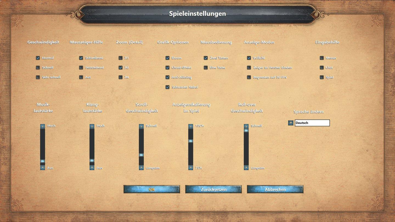 Ein eigenes Grafikmenü besitzt Age of Empires Definitive Edition nicht die vier Grafik Optionen sind in den Spieleinstellungen untergebracht. Regler für Auflösung und Vsync vermissen wir