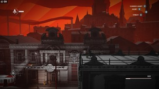 <b>Assassin's Creed Chronicles: Russia</b><br>Unsere Standardaktionen werden jederzeit in der rechten oberen Bildschirmecke angezeigt.