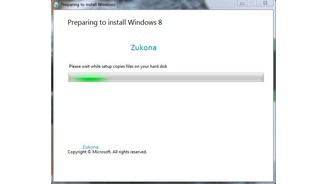 Windows 8 Installation Screenshots