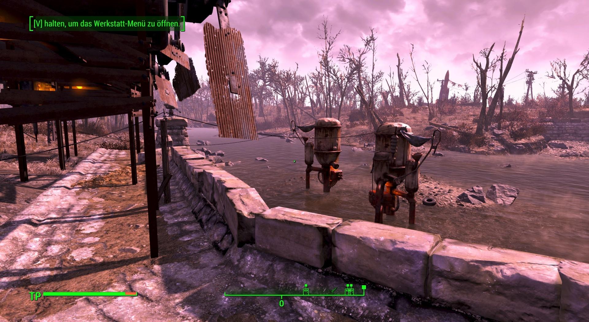 Die Wasserversorgung unserer Fallout-4-Siedlung stellen wir mit Wasseraufbereitern sicher.
