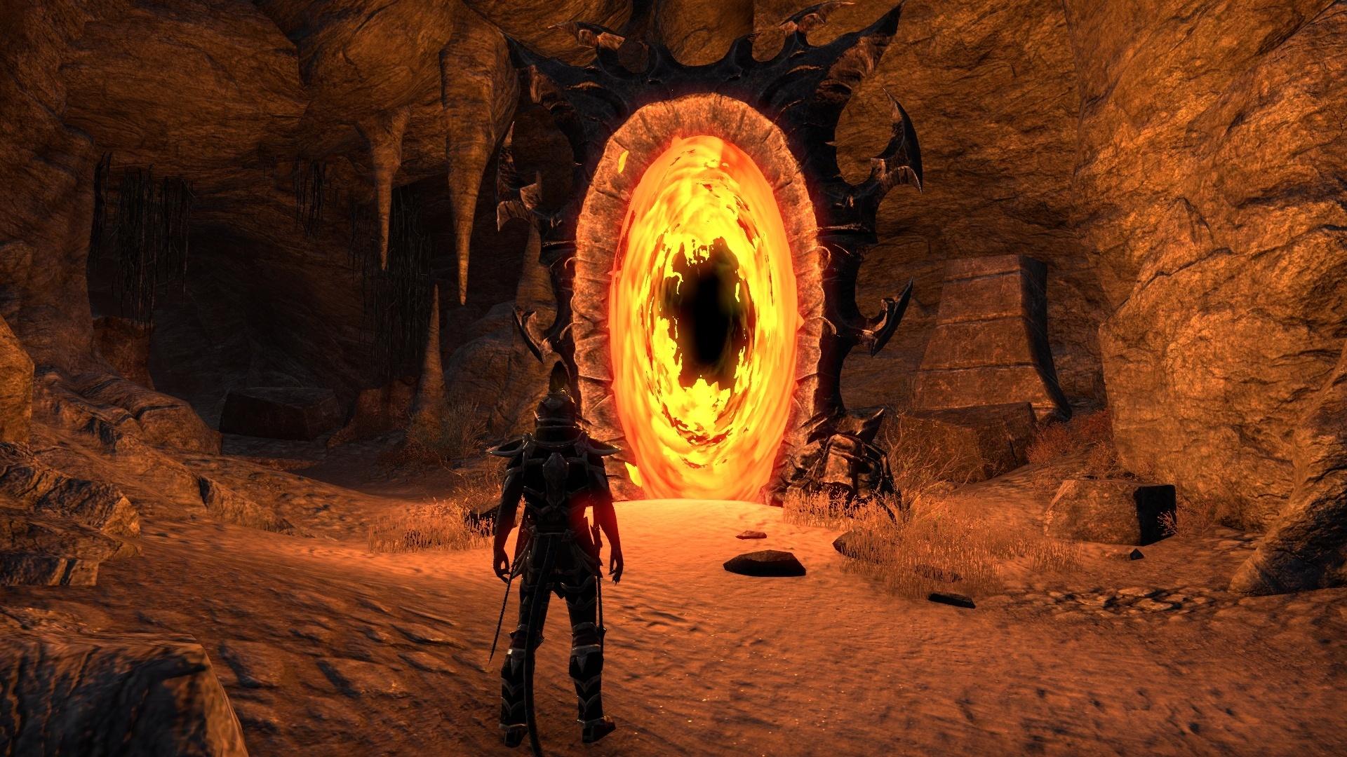 Hinter diesem Portal verbirgt sich der Zugang zur Mahlstrom-Arena, der schwierigsten Herausforderung des Orsinium-DLCs für The Elder Scrolls Online: Tamriel Unlimited.