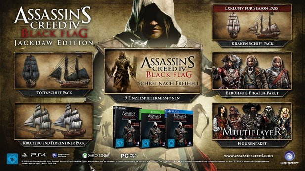 Am 27. März bringt Ubisoft Assassin's Creed 4 - Jackdaw Edition in den Handel.
