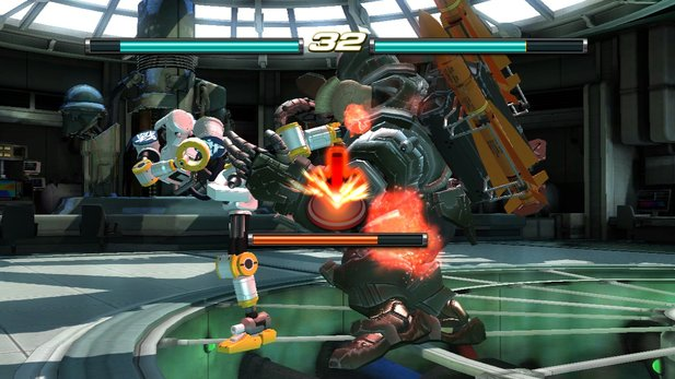 Die Stages im Fight Lab werden durch Quicktime Events oder Button Mashing-Sequenzen aufgelockert. [PS3]