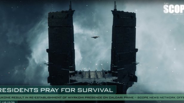 Eve Online - The Scope: Nachrichtenvideo zur Verteidigung des Keepstars in M-OEE8