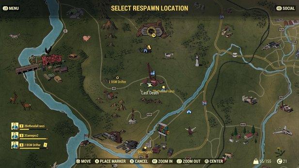 Fallout 76 Karte Deutsch.Fallout 76 Fan Baut Interaktive Weltkarte Mit Power Armor Fundorten