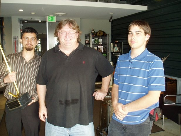 Walking_Target, Agent of Chaos und Valve-Chef Gabe Newell.