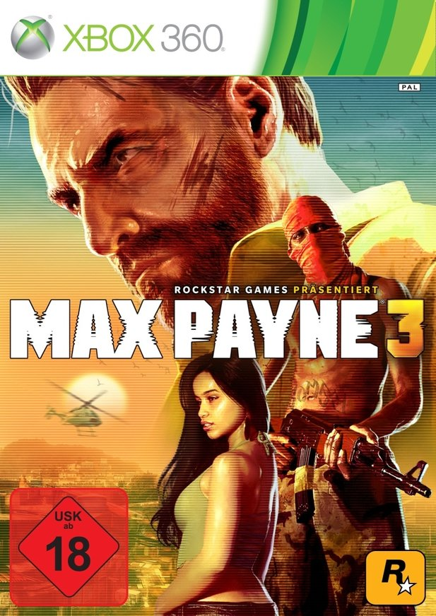Max Payne 3 hat den roten USK-Stempel (Xbox 360-Cover)