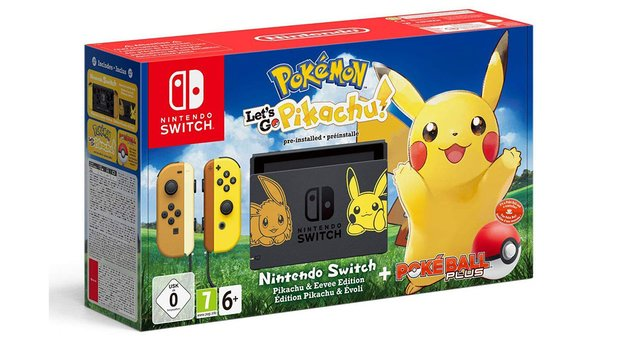 Nintendo Switch in der Pokémon-Let's-Go-Edtion.