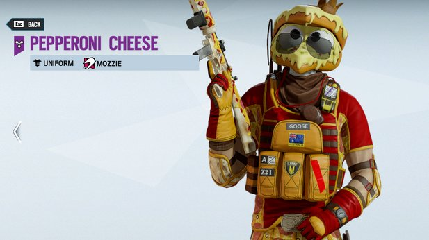 If you like it: In Rainbow Six, Mozzie can also start out as a pizza head.