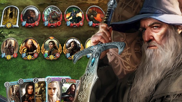Wir haben erstmals das The Lord of the Rings Living Card Game in Aktion gesehen.