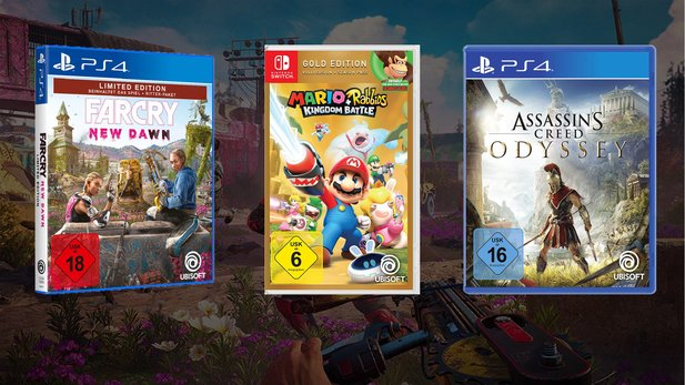 Far Cry New Dawn, Mario & Rabbids und Assassin's Creed Odyssey reduziert bei Amazon.