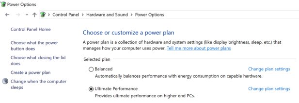 Der neue Windows 10 Ultimate Power Mode (Bildquelle: Microsoft)