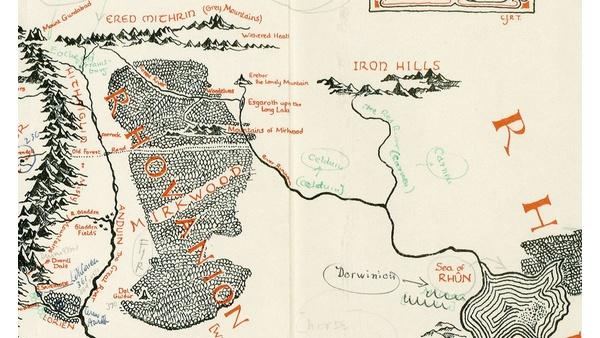 Mittelerde Karte Komplett.Herr Der Ringe Karte Von Mittelerde Mit Tolkiens Anmerkungen Entdeckt
