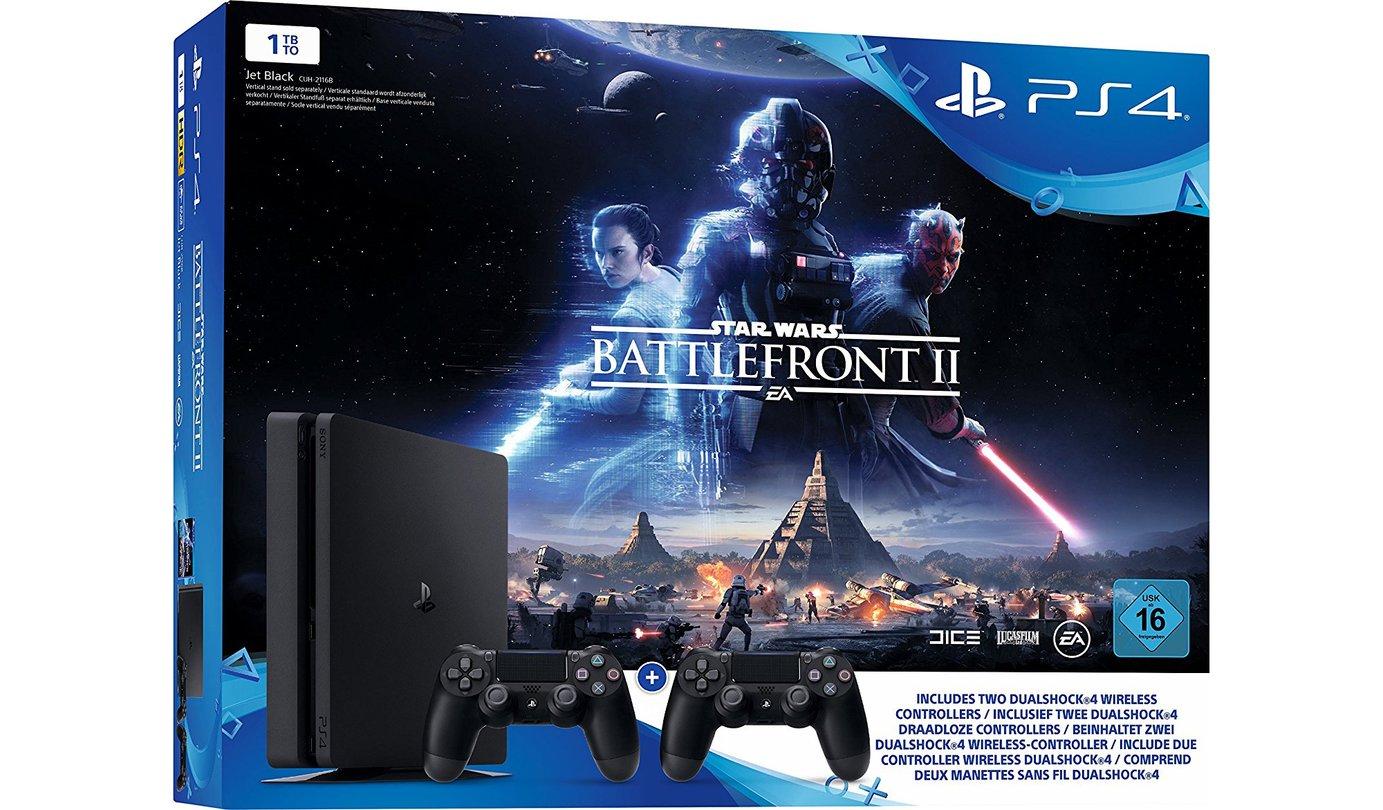 Playstation 4 Slim 1tb Battlefront Ii 2 Dualshock Nur 299