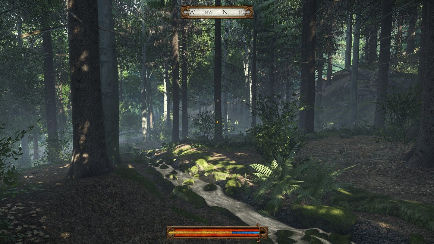 Kingdom Come: Deliverance – Alpha-VersionDie authentische Gestaltung der Spielwelt ist schon jetzt phänomenal. Der Wald im Spiel sieht sagenhaft gut aus – und echt!