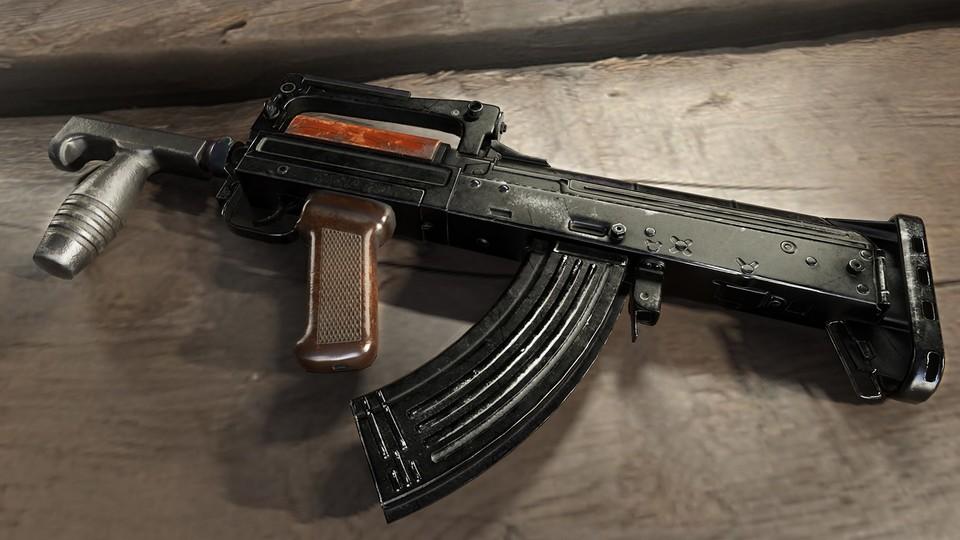 Die Groza ist ein Bullpup-Gewehr aus Russland. Die Waffe kam bereits in Rainbow Six, PUBG und früheren CoD-Teilen vor.