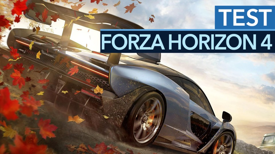 Forza Horizon 4 in the test video - also a racing game dream in Great Britain