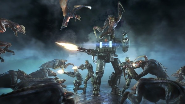 Im Multiplayer-Shooter Natural Selection 2 treten Aliens und Marines gegeneinander an.