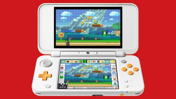 New 2DS XL in weiß-orange