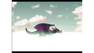 Cut scene: riding a dragon