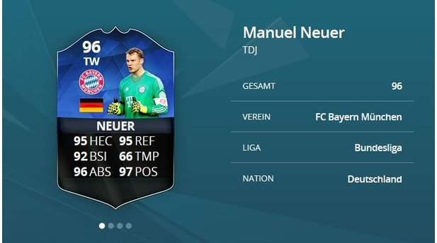 <b>FIFA 16 Ultimate Team</b><br>Manuel Neuer