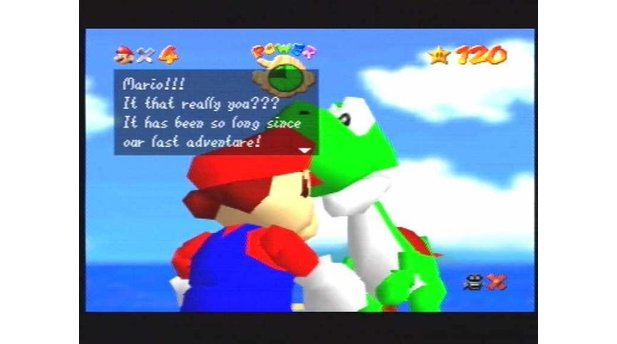 When you get all 120 stars, you get to meet Yoshi! The little dude even gives you 99 lives into the bargain!