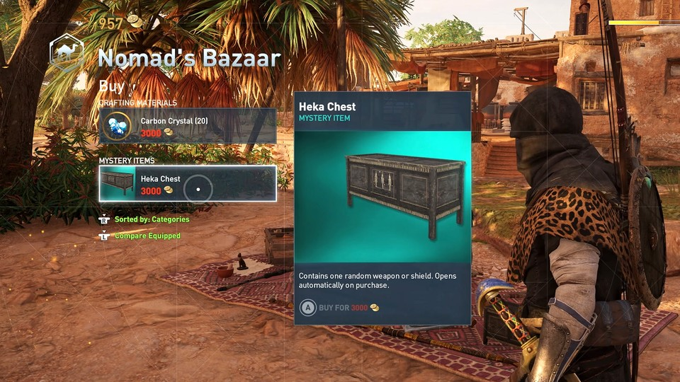 So sehen Lootboxen in Assassin's Creed: Origins aus.
