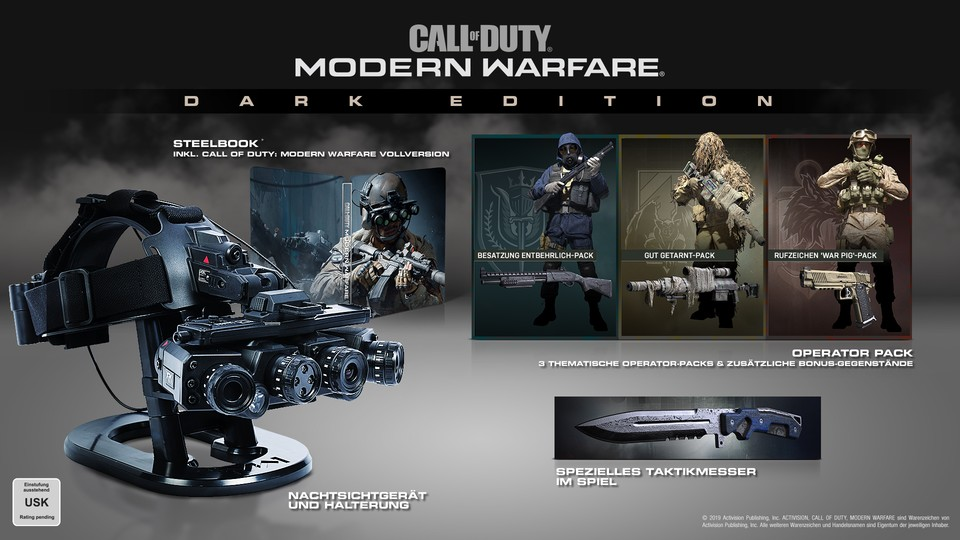 Die Dark Edition von CoD: Modern Warfare