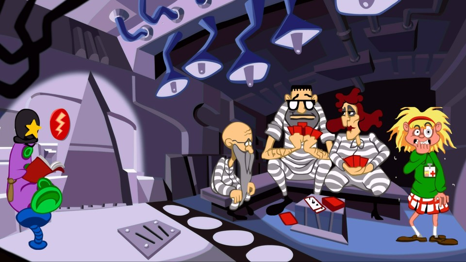 Ein Easter Egg in Day of the Tentacle Remastered lässt Spieler wie im Original den Klassiker Maniac Mansion spielen.