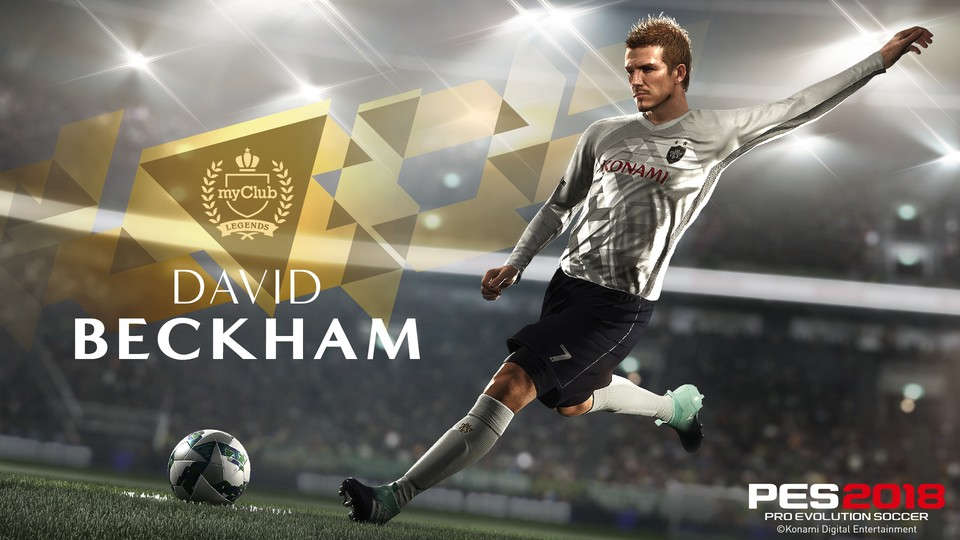 David Beckham wird in PES 18 zur PES Legende.