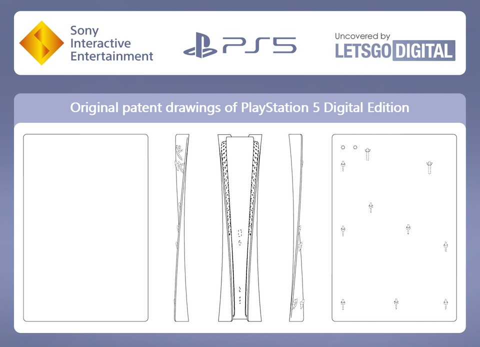 Das Patent zur PlayStation 5 Digital Edition.